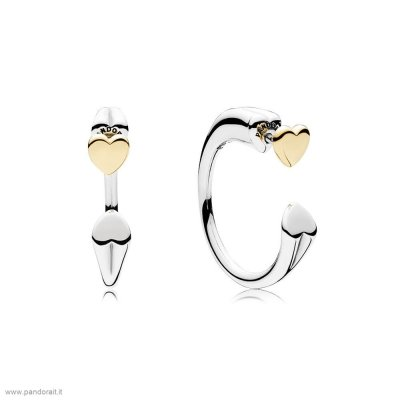 Pandora Sconto Two Hearts Earring Hoops
