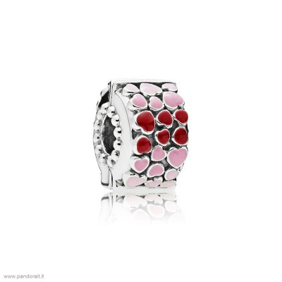 Pandora Sconto Burst Of Amore Clip Mixed Enamel