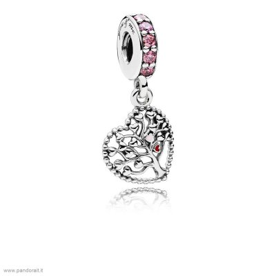 Pandora Sconto Tree Of Amore Dangle Charm Mixed Enamel Multi Colored Cz