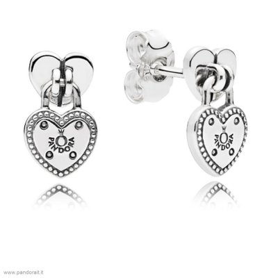 Pandora Sconto Amore Locks Stud Earrings