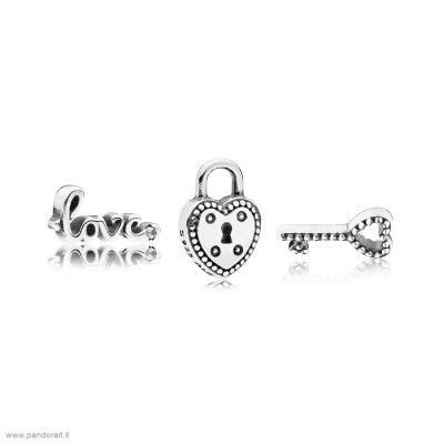Pandora Sconto Key To My Heart Petite Charm Pack