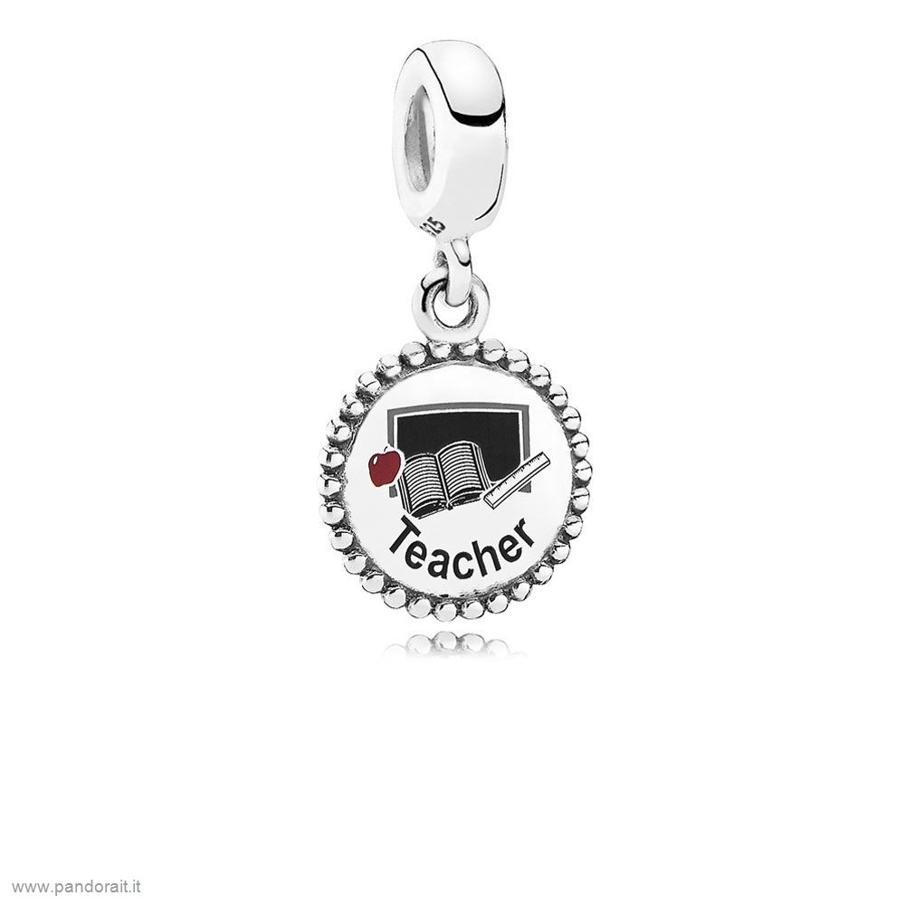 Pandora Sconto Teacher Dangle Charm Mixed Enamel