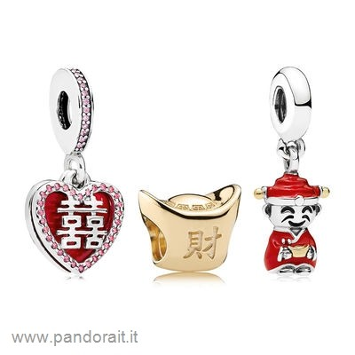 Pandora Sconto Happiness Fortune And Luck Charm Pack