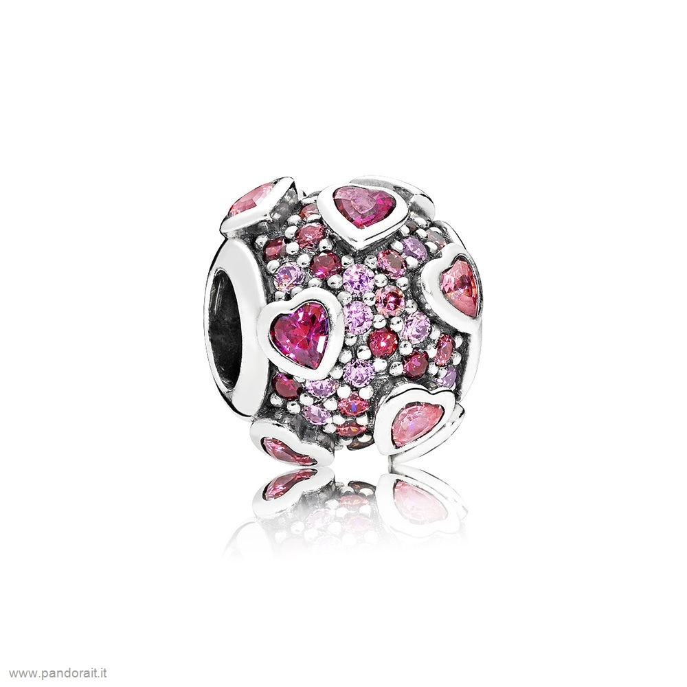 Pandora Sconto Explosion Of Amore Charm Multi Colored Cz